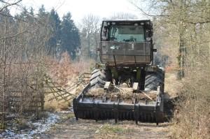Forstmulcher - Vorbereitung f maschinellen Pflanzgang 12-3-2018 b