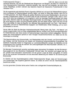 Klaus Borger Protokoll Diskussion im Stadtrat Merzig wg Forstwirtschaft 14-12-2017