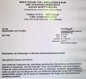 Korrespondenz ForstBW 2013 zu Buchen-Dauerwaldbewirtschaftung