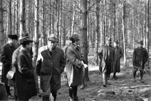 Waldbau-Exkursion vor 50 J s-w 3-3-2019 b